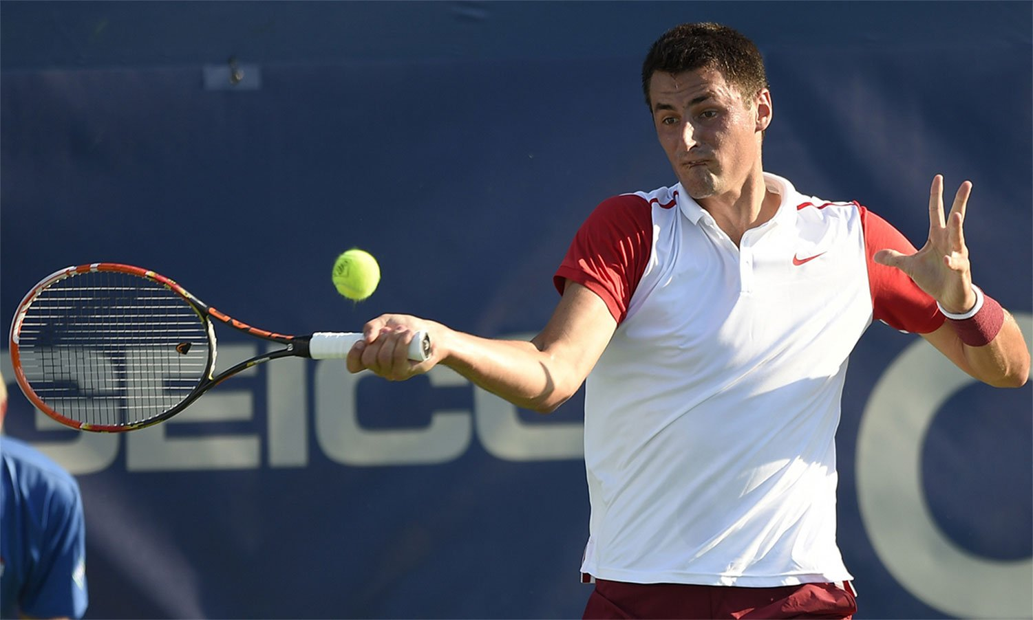 Self-defeating Bernard Tomic tries to give point to his Washington Open rival